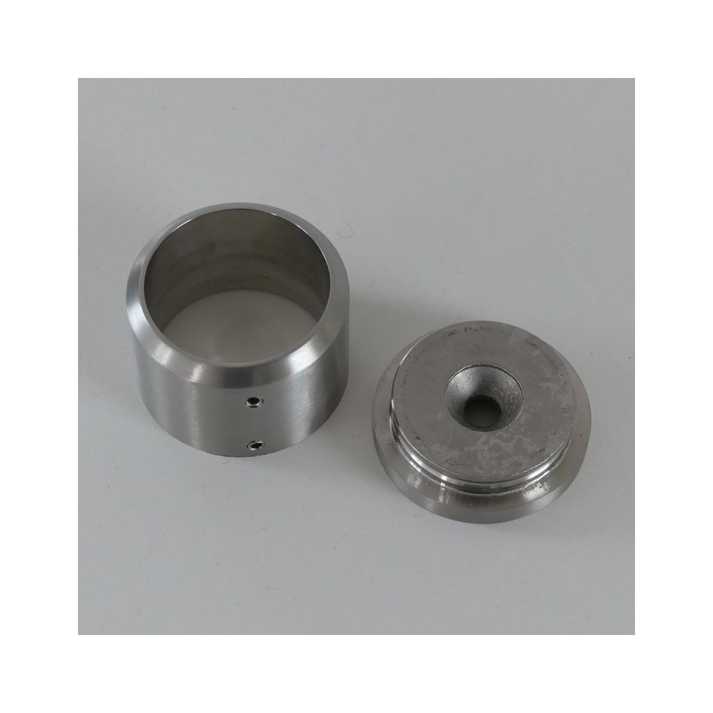Barre d 39 appui de fen tre ronde inox bross diam tre 33 7 mm for Appui fenetre aluminium