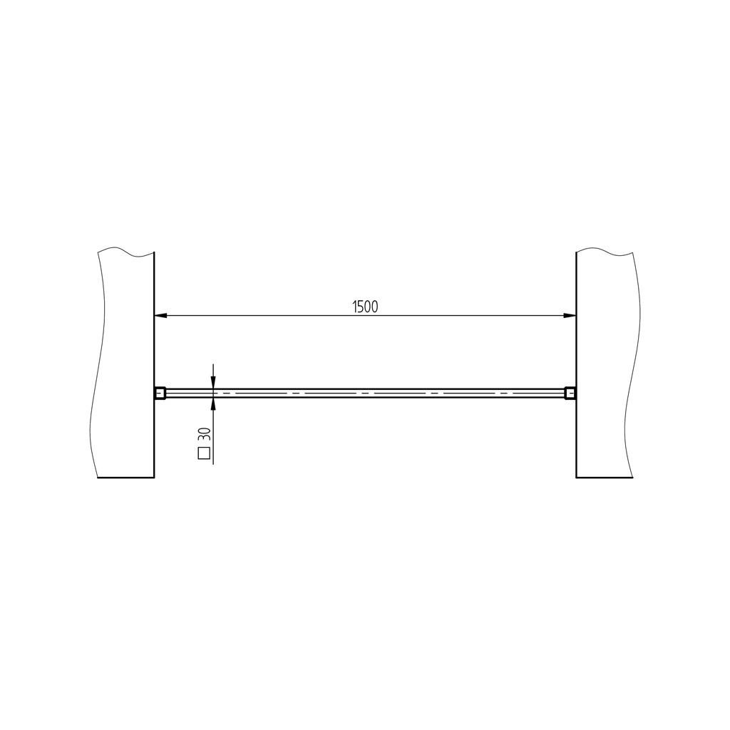 Barre Dappui De Fenêtre Carrée Inox Brossé Section 30 X 30 Mm