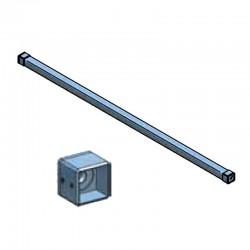 Barre d'appui de fenêtre carrée en inox brossé section 40 x 40 mm