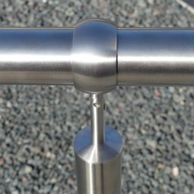 Support bague orientable pour main courante ø 42,4 x 2 mm inox 304 brossé