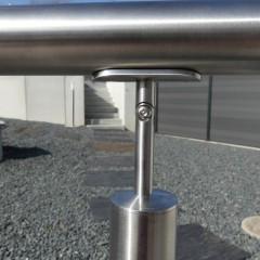 supports de main courante pour poteaux et pour fixation murale 10 metalenstock. Black Bedroom Furniture Sets. Home Design Ideas