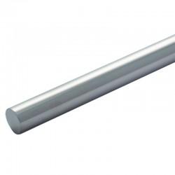 Lisse de garde corps inox diamètre 12 mm longueur 1 mètre en inox 304 brossé grain 220