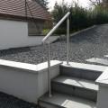 Rampe d'escalier sur poteaux, en kit, en inox 304 brossé 4