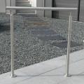 Rampe d'escalier sur poteaux, en kit, en inox 304 brossé 33