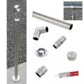 Rampe d'accès inox en kit avec BAGUE pour escalier, terrasse ou plateforme : qualité et prix ! 15