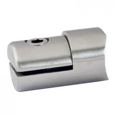 Pince à tôle cylindrique pour support plat en inox 304 brossé
