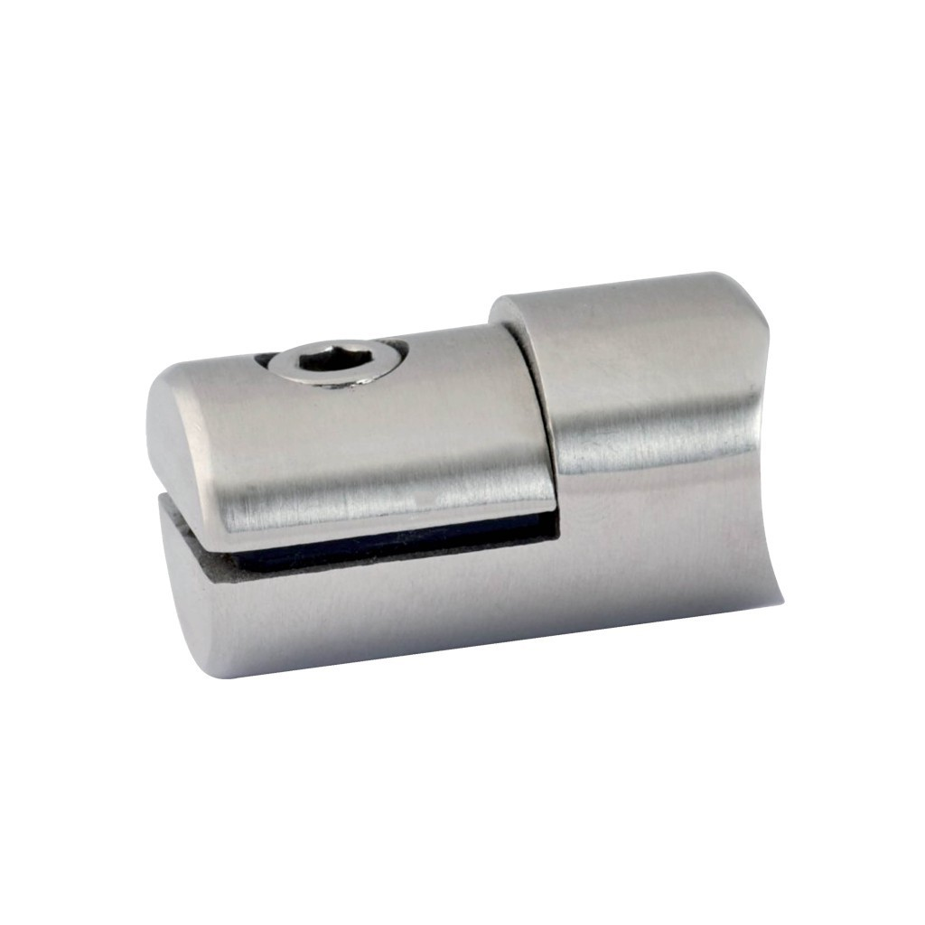 Pince t le cylindrique pour support plat en inox 304 bross for Tole inox brosse