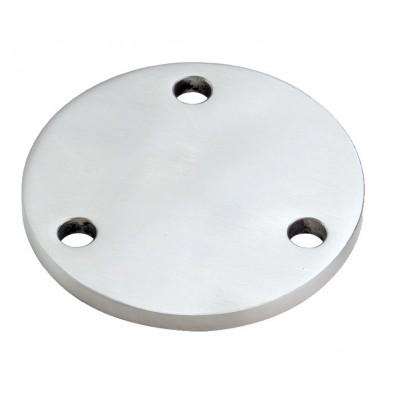 Platine à souder ø 120 mm épaisseur 8 mm 3 trous de 11 mm