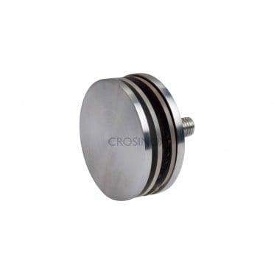Support de verre 4 à 18 mm sur support plat inox 316 brossé