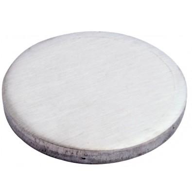 Platine à souder ø 140 mm épaisseur 10 mm en inox 304 brossé 1 face
