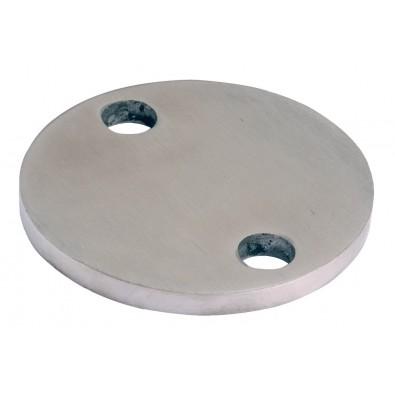 Platine à souder ø 140 mm épaisseur 10 mm 2 trous de 11 mm en inox 304 brossé 1 face