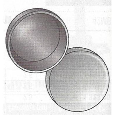 Terminaison de main courante bombée acier à souder diamètre 26,9 mm