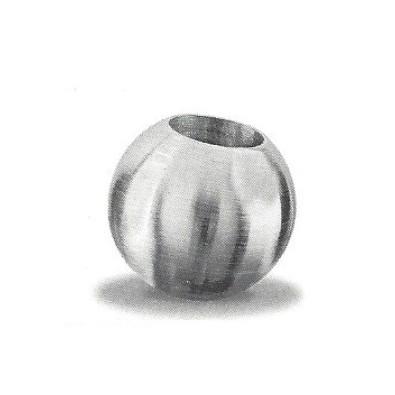 Terminaison de lisse de garde corps acier diamètre 25 mm à souder pour barre diamètre 12 mm