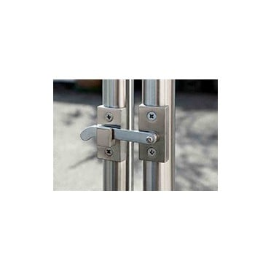 Verrou inox pour portillon inox sur tube 42,4 mm