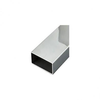 Tube rectangulaire 60 x 40 mm épaisseur 2 mm longueur 3 mètres en inox 304 brossé