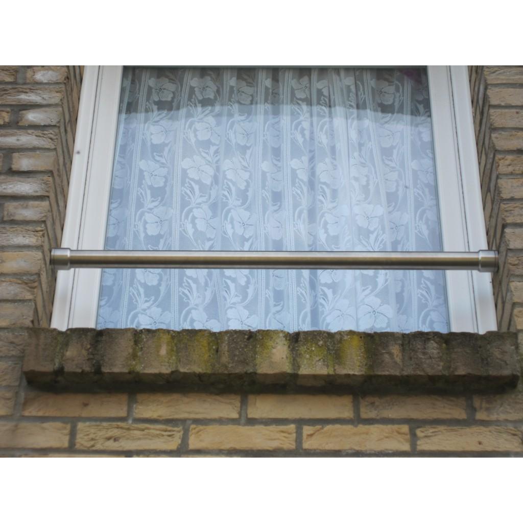 Barre d'appui de fenêtre ronde inox brossé diamètre 42,4 mm