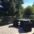 Garde corps terrasse acier design en kit 6 lisses et main courante 2