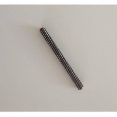 Terminaison filetée M6 pas à droite avec double filet, longueur 65 mm,  en inox 316