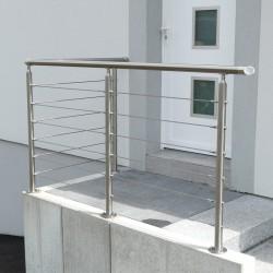 Rampe escalier inox en kit avec bagues pour main courante - Garde corps aluminium prix ...