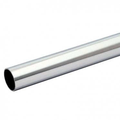 Tube rond longueur 2 METREs diamètre 26,9 mm épaisseur 2 mm en inox 304 brossé grain 220