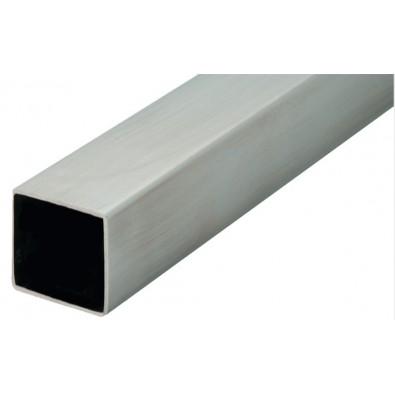 Tube carré 25 x 25 mm épaisseur 2 mm en inox 304 brossé grain 220