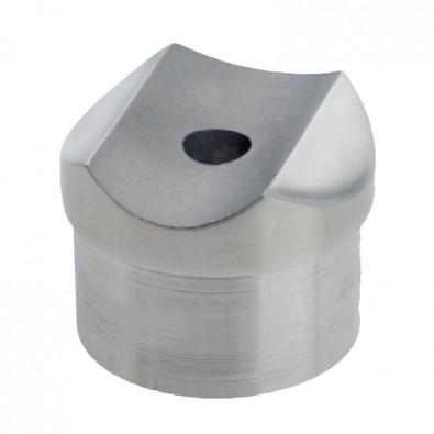 Adaptateur tube sur tube en inox 304 diamètre 33,7 mm, à pans coupés
