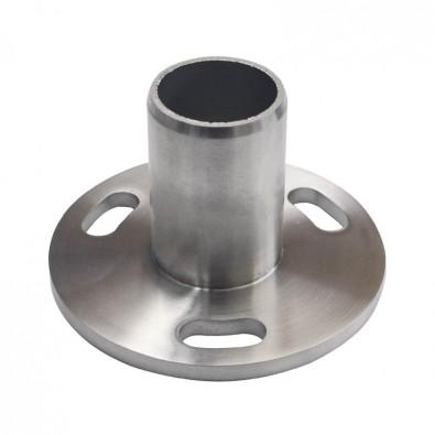 Platine sécurité ø 120 mm pour poteau ø 42,4 mm en inox 316 brossé