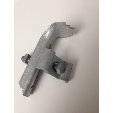 Attache simple avec cavalier pour caillebotis maille 30/30 mm, en acier galvanisé