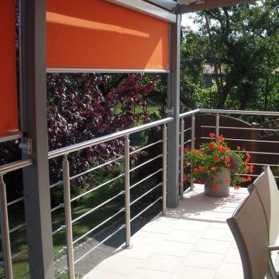 Garde corps à 5 barres en inox en kit à la française : rampe escalier, terrasse, balcon, mezzanine