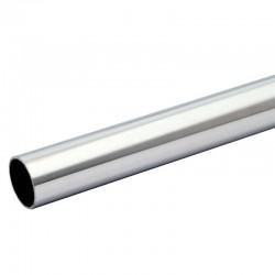 Tube rond longueur 1.5 METRE diamètre 33,7 mm épaisseur 2 mm en inox 304 brossé grain 220
