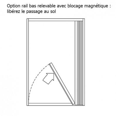 Option rail inférieur relevable avec blocage magnétique