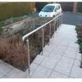 Rampe d'accès inox en kit avec BAGUE pour escalier, terrasse ou plateforme : qualité et prix ! 5