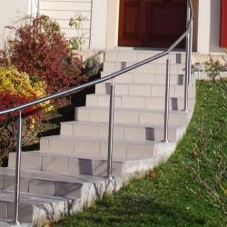 Rampe escalier inox en kit avec bagues pour main courante - Hauteur rampe d escalier ...