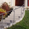 Rampe d'escalier sur poteaux, en kit, en inox 304 brossé 0