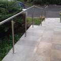 Rampe d'escalier sur poteaux, en kit, en inox 304 brossé 17