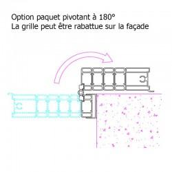 Option paquet pivotant, rail inferieur relevable et blocage magnétique