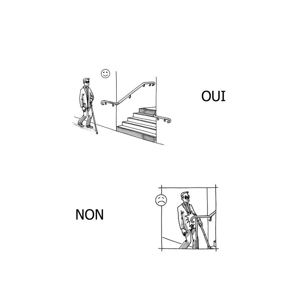 Main courante inox erp pmr en kit for Converse logo interieur ou exterieur