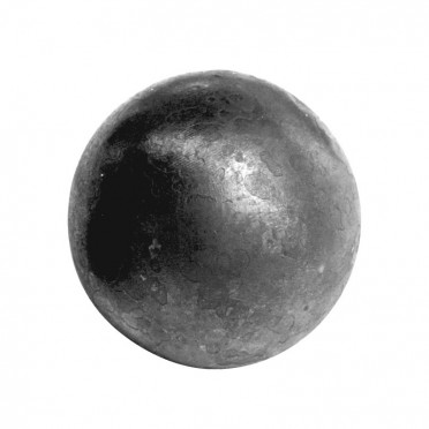 Boule en acier lisse pleine diamètre 80 mm, décorative