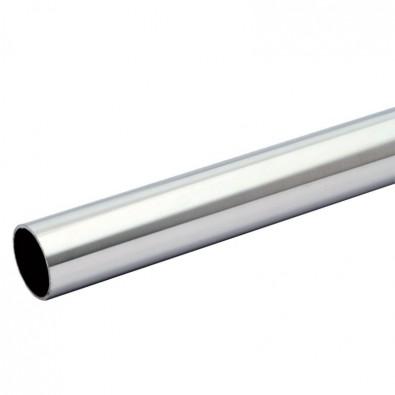 Tube rond longueur 1 METRE diamètre 48,3 mm épaisseur 2 mm en inox 304 brossé grain 220
