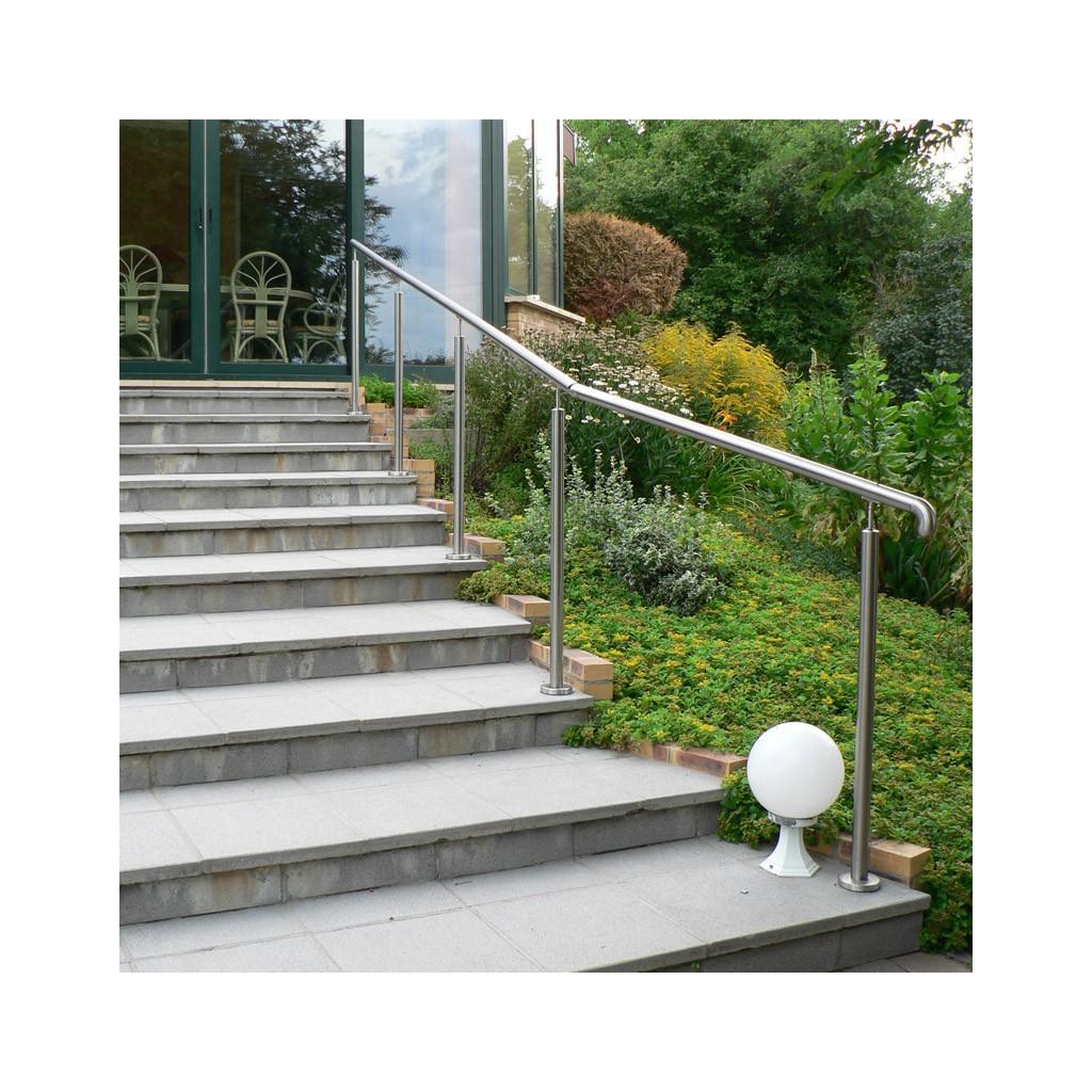 Rampe escalier inox en kit sur poteaux for Rambarde d escalier exterieur