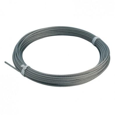Câble inox 316 diamètre 6 mm coupé à la mesure, le mètre :