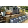 Garde corps à câbles en inox en kit à la française : terrasse, balcon, mezzanine 15