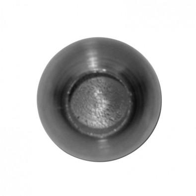 Terminaison de lisse, en acier brut ø 25 mm, trou borgne ø 10,2 mm