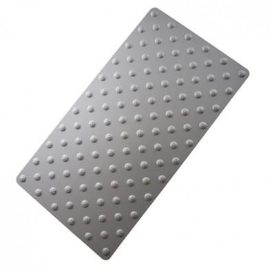 Tapis podotactile élégant aluminium anodisé - bande d'éveil à la vigilance contrastée 800 x 420 mm - couleur ALU NATUREL