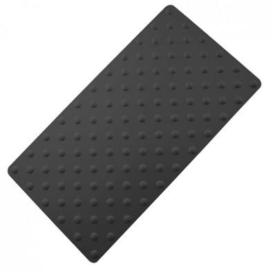 Tapis podotactile aluminium anodisé - bande d'éveil à la vigilance contrastée 800 x 420 mm - couleur NOIR