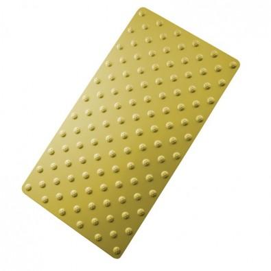 Tapis podotactile élégant aluminium anodisé - bande d'éveil à la vigilance contrastée 800 x 420 mm - couleur OR