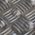 Tapis podotactile tôle damier aluminium - bande d'éveil à la vigilance contrastée 800 x 420 mm - couleur ALU NATUREL 2
