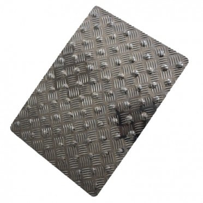 Tapis podotactile aluminium damier couleur alu naturel for Converse logo interieur ou exterieur