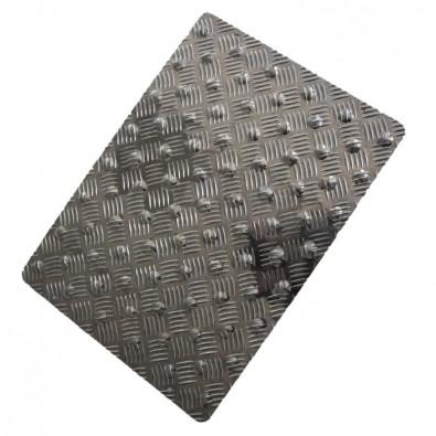 tapis podotactile aluminium damier couleur alu naturel. Black Bedroom Furniture Sets. Home Design Ideas