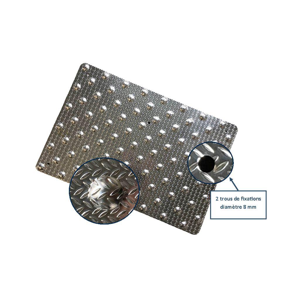 Tapis podotactile aluminium grain de riz couleur alu for Converse logo interieur ou exterieur